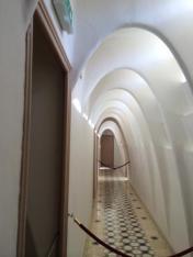 A hallway along the top floor