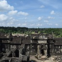 Overlooking the entry of Angkor Wat