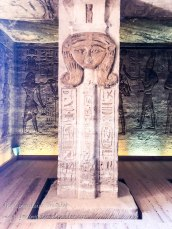 pillars carved with the head of Nefertari